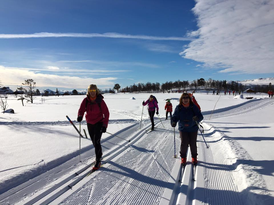 Cross country skiing at Langedrag